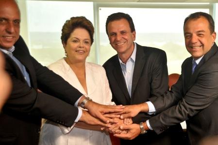 Dilma recebe o governador do Rio de Janeiro