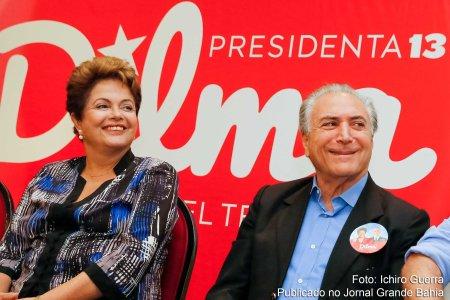Dilma e Temer - juntos