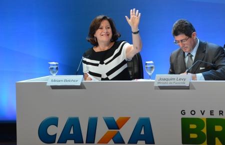 Posse da nova presidenta da Caixa, Miriam Belchior