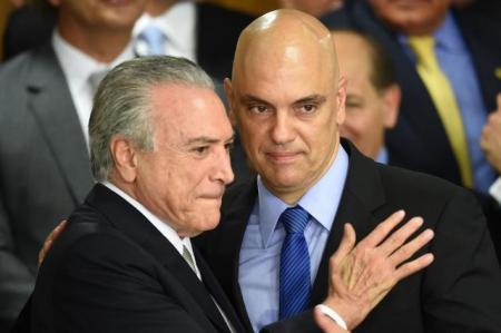 Temer e Ministro Alesandre de Morais