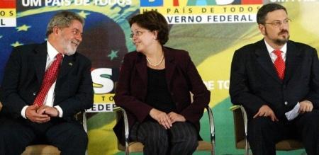 Palocci Lula e Dilma