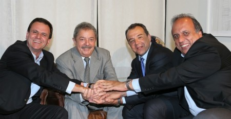 Pezão, Lula, Paes e Cabral